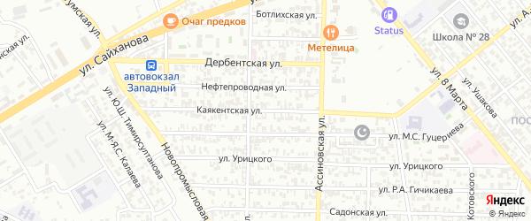 Каякентская улица на карте Грозного с номерами домов