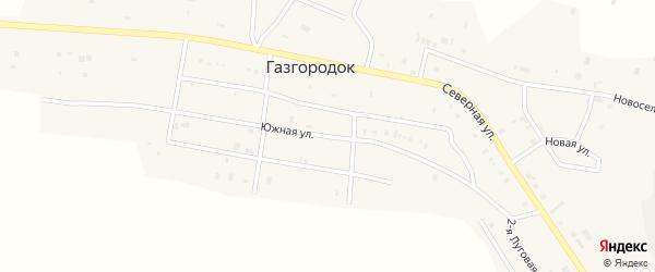 Южная улица на карте поселка Газгородка с номерами домов