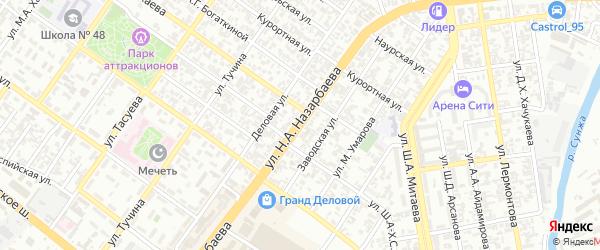 Улица им Н.А.Назарбаева на карте Грозного с номерами домов