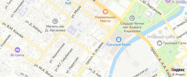 Улица им Карла Либкнехта на карте Грозного с номерами домов