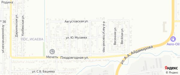 Августовский 3-й переулок на карте Грозного с номерами домов