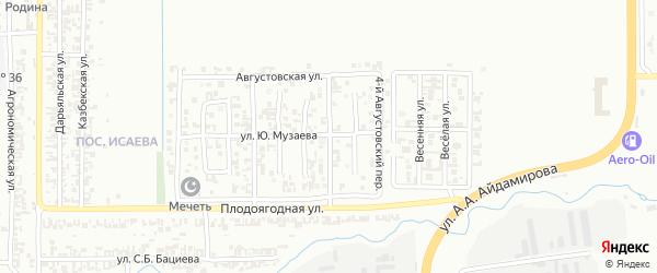 Сиреневый 3-й переулок на карте Грозного с номерами домов