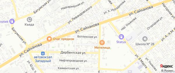 Ботлихская улица на карте Грозного с номерами домов