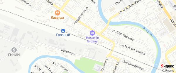 Улица Табачного на карте Грозного с номерами домов