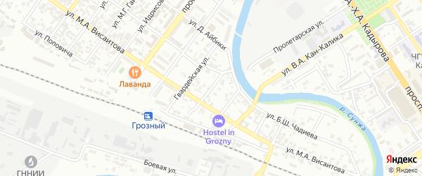 Железнодорожная улица на карте Грозного с номерами домов