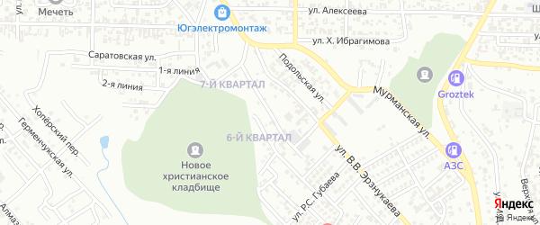 Измайловская улица на карте Грозного с номерами домов