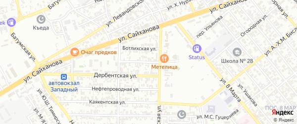 Буйнакская улица на карте Грозного с номерами домов