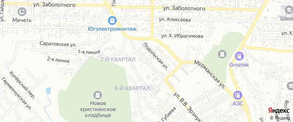Кишиневская улица на карте Грозного с номерами домов