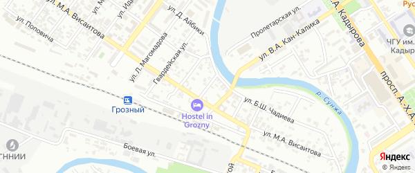 Переулок Рабкоров на карте Грозного с номерами домов