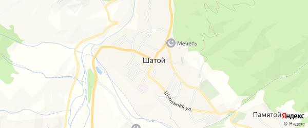 Карта села Шатоя в Чечне с улицами и номерами домов
