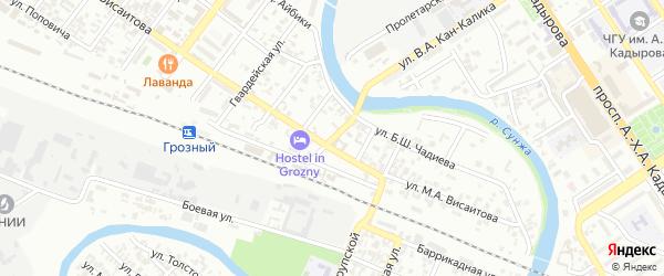 Улица Субботников на карте Грозного с номерами домов