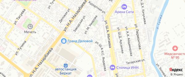 Улица Полярников на карте Грозного с номерами домов