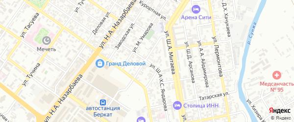 Улица им С-Х.С.Хатуева на карте Грозного с номерами домов