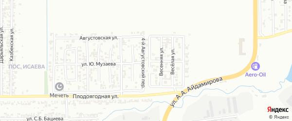 Августовский 4-й переулок на карте Грозного с номерами домов
