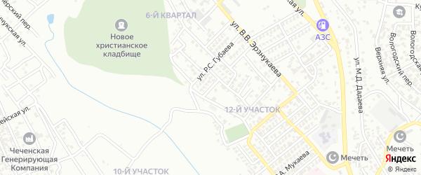 Улица А.А.Докуева на карте Грозного с номерами домов