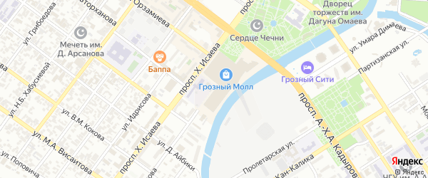 Улица им Б.С.Магомадова на карте Грозного с номерами домов