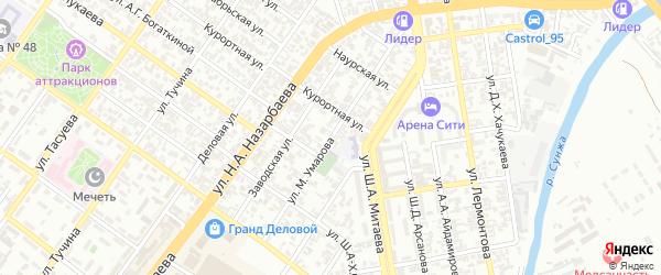 Гражданская улица на карте Грозного с номерами домов