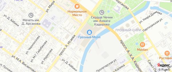 Улица им Л.Д.Магомадова на карте Грозного с номерами домов