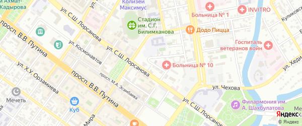 Улица Пушкина на карте Грозного с номерами домов