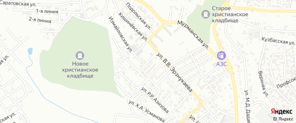 Переулок И.Умхаджиева на карте Грозного с номерами домов
