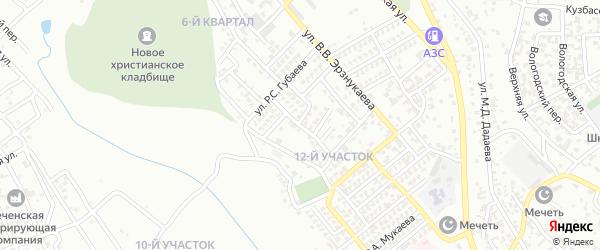 Улица им Р.М.Шабазова на карте Грозного с номерами домов