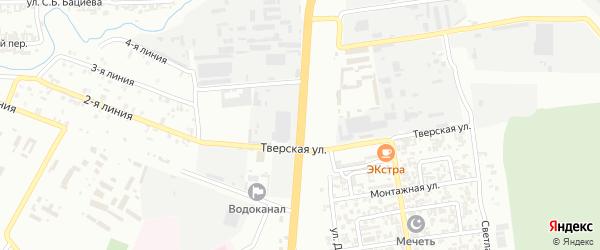 Улица К.Айдамирова на карте Грозного с номерами домов