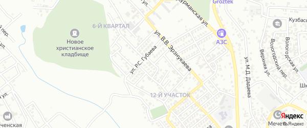 Улица И.Умхаджиева на карте Грозного с номерами домов