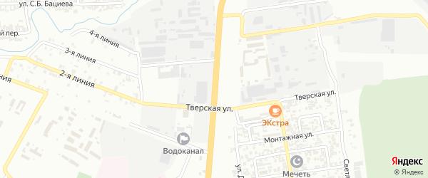 Улица Абузара Айдамирова на карте Грозного с номерами домов