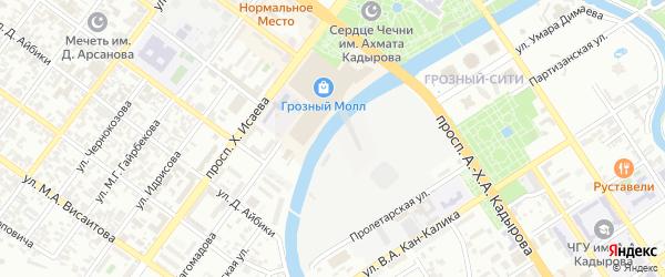 Улица Терешковой на карте Грозного с номерами домов