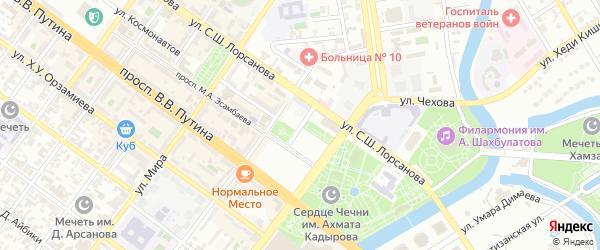 Улица Полежаева на карте Грозного с номерами домов