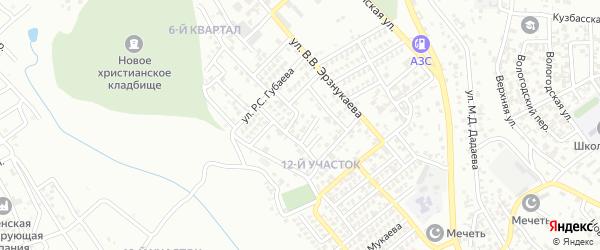 Р.Р.Азизова 1-й переулок на карте Грозного с номерами домов