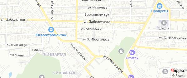 Кирова 5-й переулок на карте Грозного с номерами домов