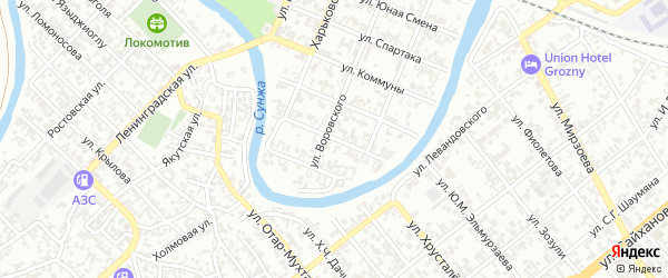Улица 9-я Линия на карте Грозного с номерами домов