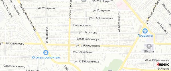 Улица им Гастелло на карте Грозного с номерами домов