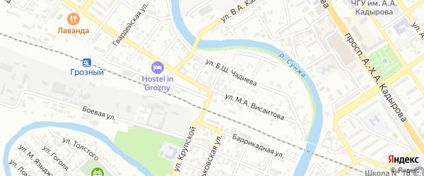 Переулок им Галушкина на карте Грозного с номерами домов