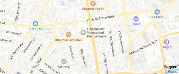 Авиационная улица на карте Грозного с номерами домов