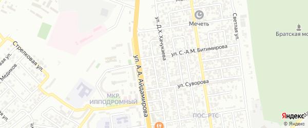 Переписной переулок на карте Грозного с номерами домов