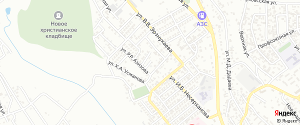 Переулок им Р.М.Шабазова на карте Грозного с номерами домов