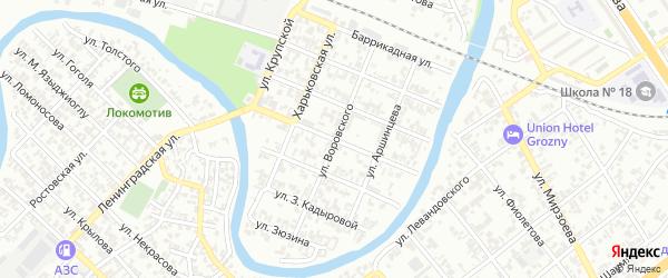 Переулок им Воровского на карте Грозного с номерами домов