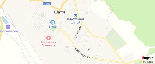 Улица Х.Исаева на карте села Шатоя с номерами домов