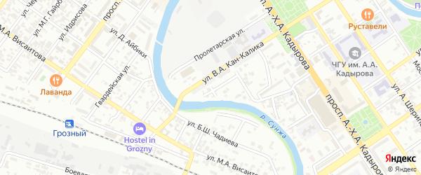 Улица им С.С.Мумаева на карте Грозного с номерами домов