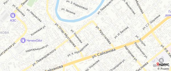 Кирпичный переулок на карте Грозного с номерами домов