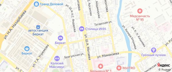 Улица им Шейха Али Митаева на карте Грозного с номерами домов