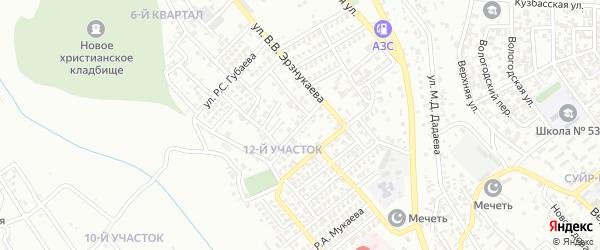 Улица А.Д.Усманова на карте Грозного с номерами домов