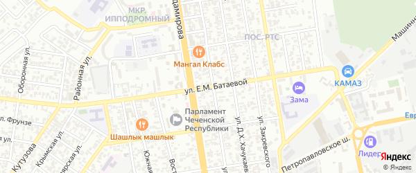 Улица им Батаевой Екатерины М на карте Грозного с номерами домов