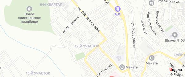 Улица Х.А.Усманова на карте Грозного с номерами домов