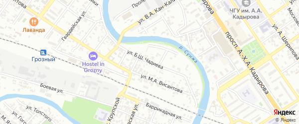 Улица Красная турбина на карте Грозного с номерами домов