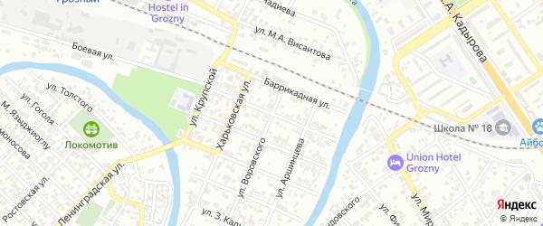 Улица Юная смена на карте Грозного с номерами домов
