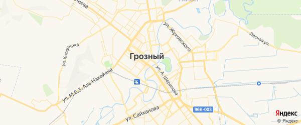 Карта Грозного с районами, улицами и номерами домов
