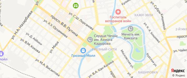 СНТ Садовод на карте Грозного с номерами домов